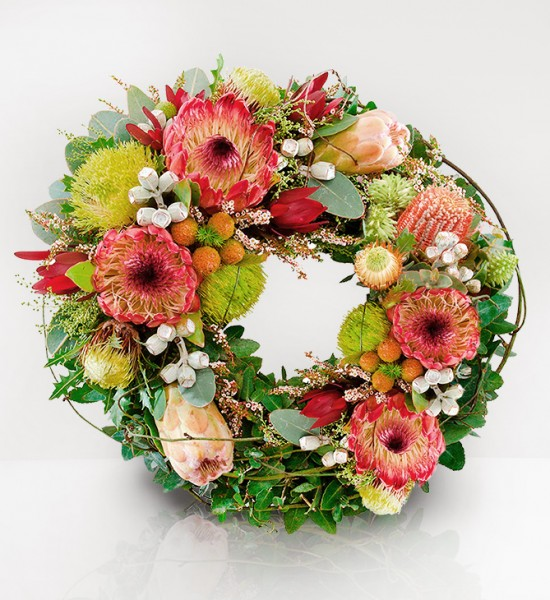 Australia wildflower wreath