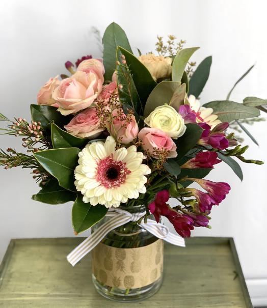 Big jar flowers of love bouquet