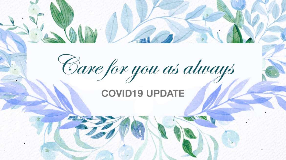 Covid-19 update for our customers